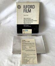 Vintage Box 25 Panchromatic ILFORD FP4 12x16.5cm Photo Film ASA 125 DIN 22