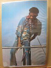 Vintage Poster Jimi Hendrix Guitar Rock n' Roll 1976 Inv#G306