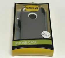 For Apple iPhone 5 / 5S / SE Case Cover w(Belt Clip Fits Otterbox Defender)Gray