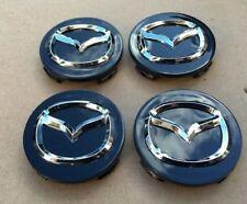 4x56mm For MAZDA Black Wheel Center Caps Logo Emblem Badge Hubcaps Rim Caps