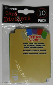 ULTRA PRO STORAGE BOX CARD DIVIDERS (X10)-FOR DECK BOXES & SLEEVES  FREE UK P&P