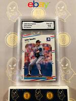 1988 Fleer Update John Smoltz U-74 Rookie - 10 GEM MINT GMA Graded Baseball Card