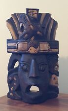 Vintage Haiti Hand Carved Wooden Tribal Mask