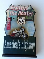 Wooden Route 66 Key Holder Cabinet - Cruisin The Route!