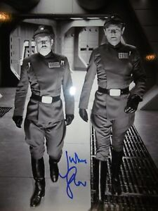 STAR WARS JULIAN GLOVER GENERAL VEERS SIGNED PHOTO CERTIFICATE OF AUTHENTICITY