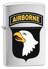 Zippo 29185 US Army 101st Airborne-Eagle Brushed Chrome Lighter