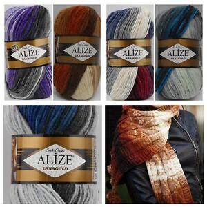 *TOP* Alize Lanagold Batik - 4 Farbverläufe -  100g