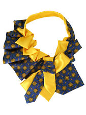 Tie women's. Silk Italy. Collar, necklace, necktie. Hand-made Handmade yellow