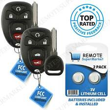 2 Replacement for 2006-2011 Buick Lucerne Cadillac Dts Remote Car Key Fob 5b Set