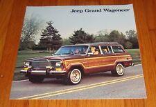 Original 1985 Jeep Grand Wagoneer Sales Brochure