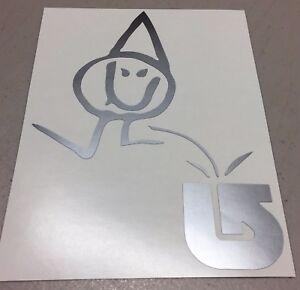 Lib Tech pee on Burton snowboard vinyl decal sticker die-cut