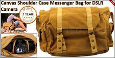 Canvas Shoulder Case Messenger Bag Digital Sony Nikon Cameras BG-LBR DSLR SLR