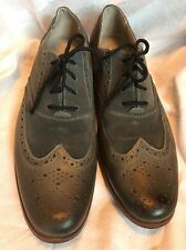 Penguin by Munsingwear Prince Wingtips Grey Suede/Leather sz 9.5 Brouge Wing Tip