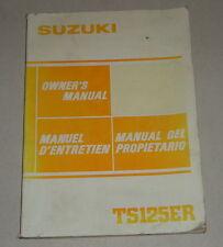 Betriebsanleitung Suzuki TS 125 ER Stand 07/1982