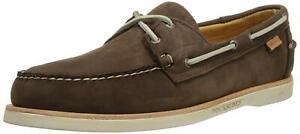 Sebago Crest Docksides Men's Dark Brown Nubuck Boat Shoes