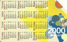 RARE / CARTE TELEPHONIQUE PREPAYEE - CALENDRIER 2000 / PHONECARD ITALY