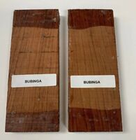 Bubinga Knifemakers Supply: Exotic Natural Wood Knife Book Matched,  Set of 2