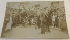 More details for rp postcard 1910s - bride & groom - off for the honeymoon horse & cart
