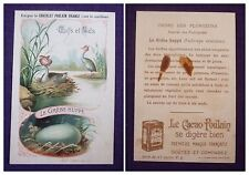 CARTE IMAGE CHROMO RECLAME CHOCOLAT POULAIN ORANGE N°9 LE GREBE HUPPE.