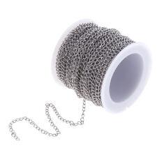 1 rollo de cadena de cable de acero inoxidable de plata para la fabricación