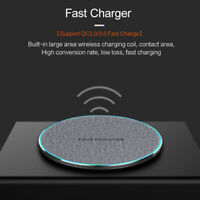 15W Fast Qi Wireless Charger Charging Pad Mat For iPhone 11 11Pro 8 X 8Plus XS