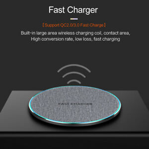 US 15W Qi Wireless Charger Charging Pad Mat For i Phone 11 11Pro 8 X 8Plus XS XR