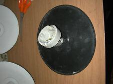 Applique murale porcelaine abat jour en tôle émaillée déco indus atelier N°2