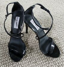 Steve Madden Black Strappy Patent Leather Stilettos