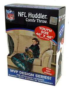 Jacksonville Football Jaguars Youth Comfy Throw Huddler - The Blanket with