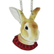 groß lustig Anhänger Halskette - Hase mit Perlen Halskette cg0579