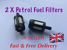 2 X Fuel Filter For petrol  Chainsaw, Leaf Blower,  Strimmer etc