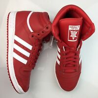 Adidas Originals Top Ten Hi Shoes Red Scarlet White Mens Sneakers NEW