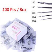 Aghi piercing sterilizzati 100piece per il naso dell'ombelico del corpo .