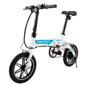 SwagCycle EB5 Pro Folding Electric Bike Lightweight w/ Removable Battery & Pedal
