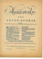 """A. Dvorak Op. 101 Nr.7 """" Humoreske in Ges ( Original ) """" , alte Noten"""