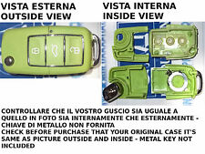 CUBIERTA COVER VERDE PARA LLAVE CONTROL REMOTO 3 BOTONES VOLKSWAGEN GOLF PASSAT