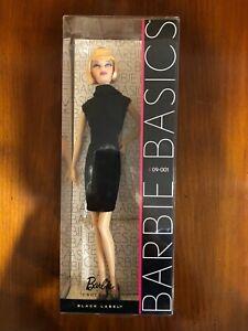 Barbie Basics Blonde Black Label Limited Edition Doll #09 - 001