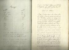 Manoscritto Giovanni Battista Niccolini Nabucco Napoleonico 1820 c.a