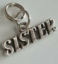 Sterling Silver (925) Sister Charm Pendant