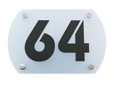 Hausnummer Acryl - Ice Blue 5H03 - Transparent - Büro Schild - Hausschild