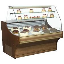 FRILIXA TAMEGA WOOD FINISH CAKE PATISSERIE FRIDGE DISPLAY UNIT @£1600 +Vat