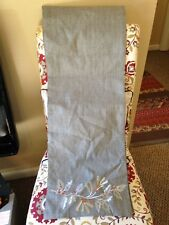 Gray Table Runner With Shiny Embroidery