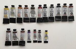 Daniel Smith Watercolour Paint 18 Part Used Tubes