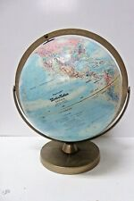 Vintage Gimbal Mount Metal Base Repogle World Globe Leroy M Tolman Cartographer