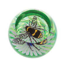 Caithness Glass U19026 Busy Bees Bumble Bee on a Flower Paperweight