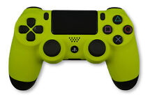 Custom Soft Touch Neon Yellow Sony Dualshock Playstation PS4 Wireless Controller
