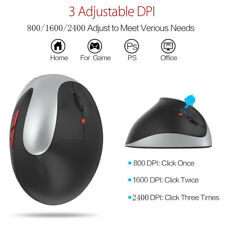 2.4GHz Ergonomic Vertical Mouse Gaming 2400DPI USB Mice With Left Hand For PC