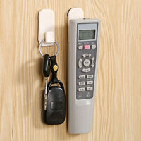 2PCS TV Air Conditioner Remote Control Organizer Storage Wall Hanger Hooks Set