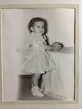 Baby Girl with Ball Photograph in Cardboard Folder 1940's