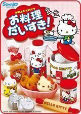 Re-Ment Hello Kitty Mini Food Dishes Lunch Kitchen 8pc Discontinue